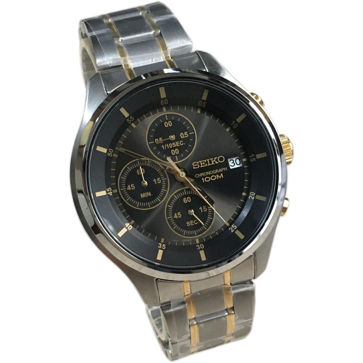 008179c4b32 relogio seiko cronografo masculino prata cinza. Carregando zoom.