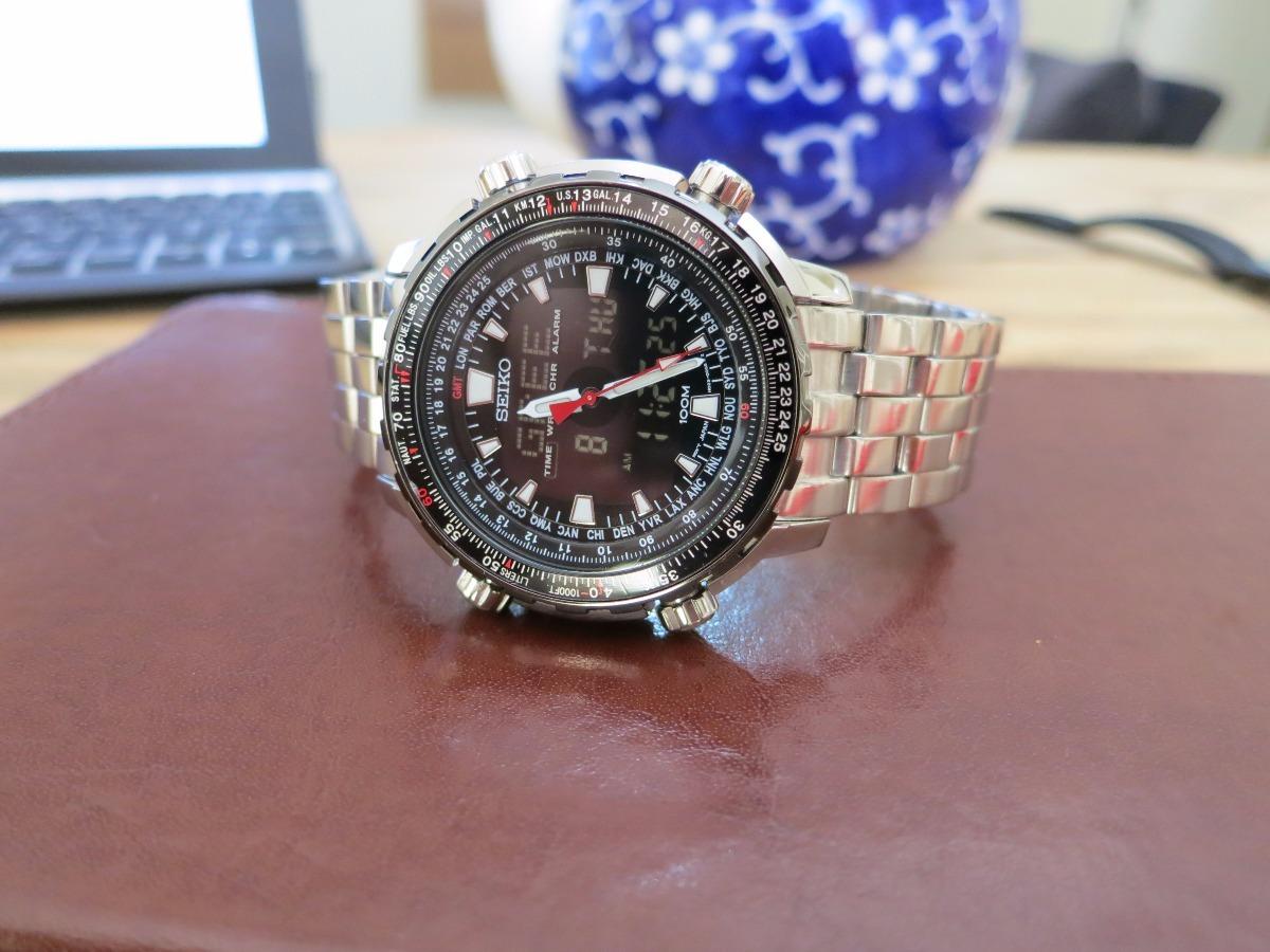 4941a844a5b Relógio Seiko H023-00g0 - World Timer - R  1.680