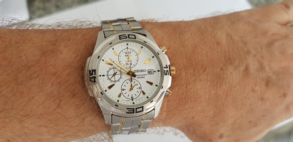 bad21ba6da6 Relógio Seiko Masculino Chronograph 100m Water Resistant!!!! - R ...