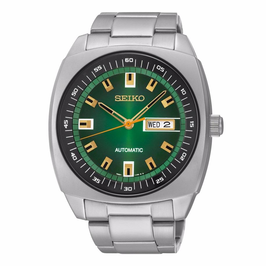 d3f34ed053d relógio seiko masculino automático snkm97 verde aço. Carregando zoom.