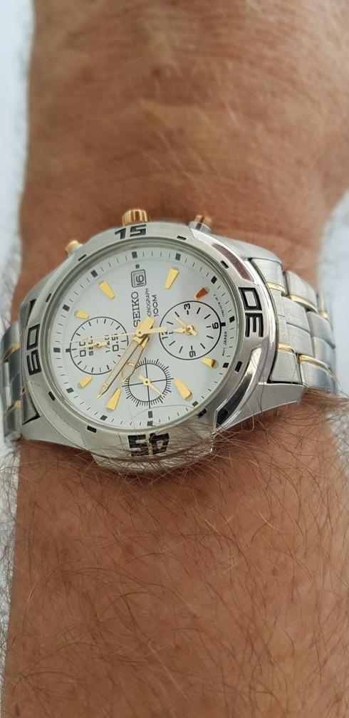 56bfb1f9c29 relógio seiko masculino chronograph 100m water resistant!!!! Carregando zoom .
