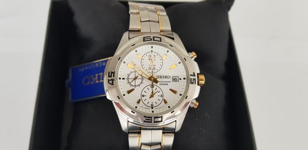 40cd9ca0c90 relógio seiko masculino chronograph 100m water resistant!!!! Carregando  zoom.