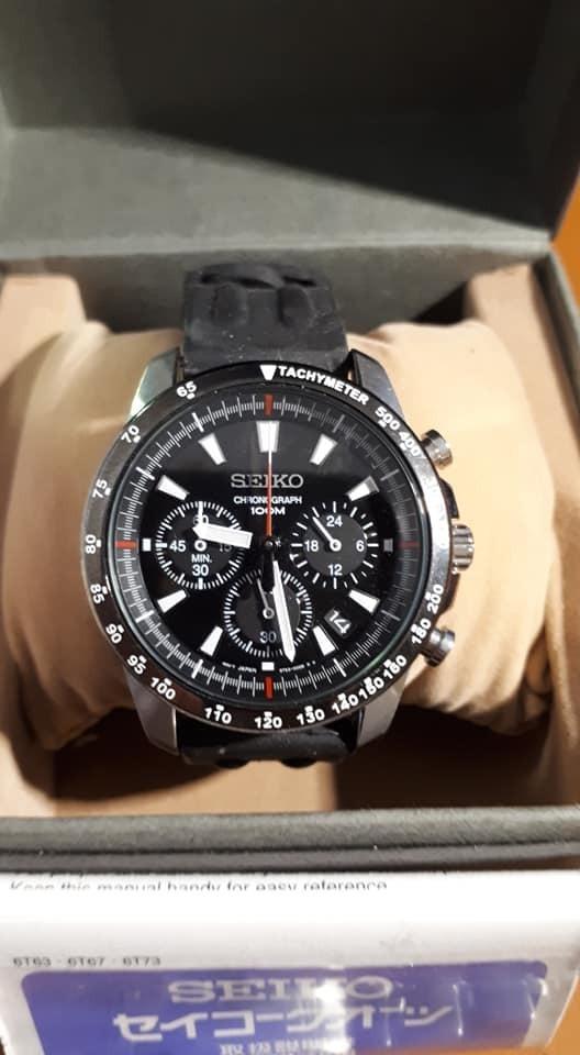 36ce2a12209 relógio seiko masculino cronógrafo relógio 100m. Carregando zoom.
