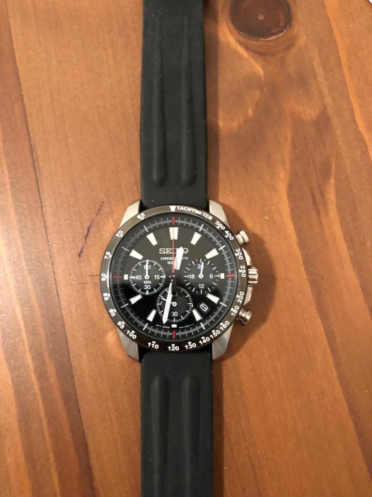 14d0b235520 Relógio Seiko Masculino Cronógrafo Relógio 100m - R  1.300