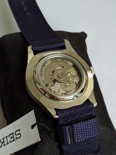 relógio seiko militar 41mm azul sng11k1 novo