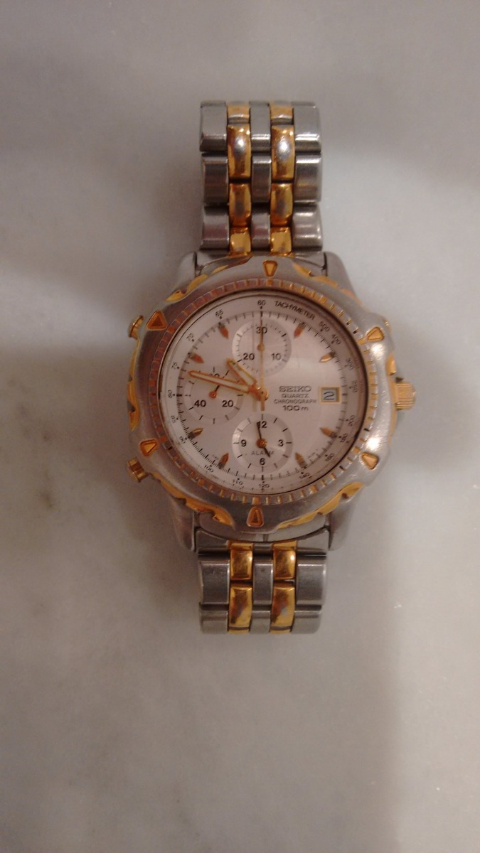 5d72e566f21 relogio seiko quartz chronograph 100m y182 -6c35. Carregando zoom.