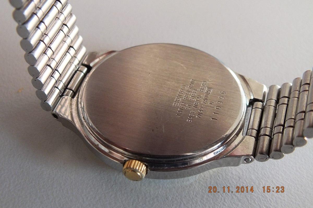 a8cbe69f896 relógio seiko quartz masculino-déc 80- azul. Carregando zoom.