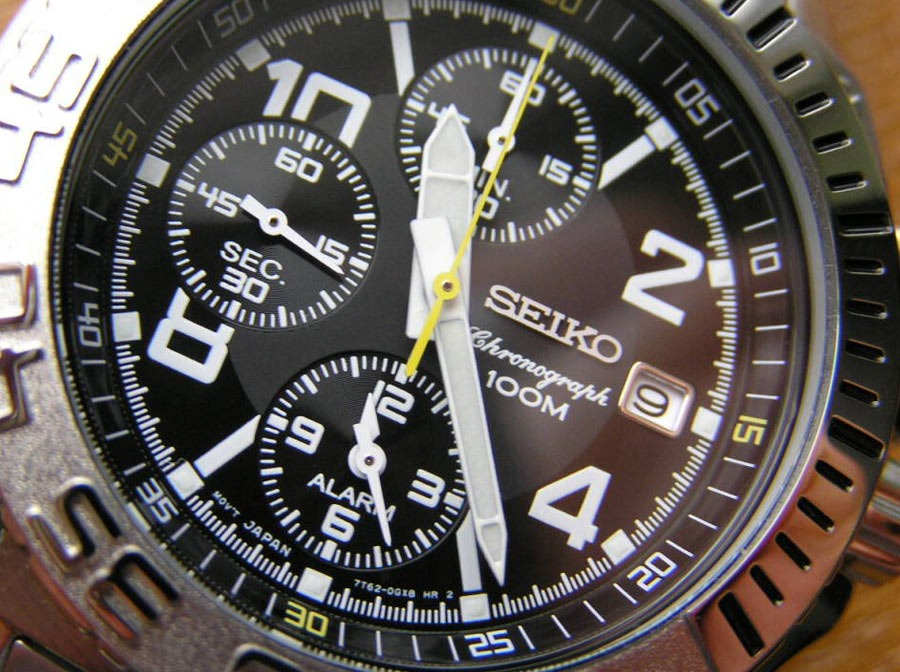 621f7600104 relogio seiko sna617 chronograph todo aço quartz original. Carregando zoom.