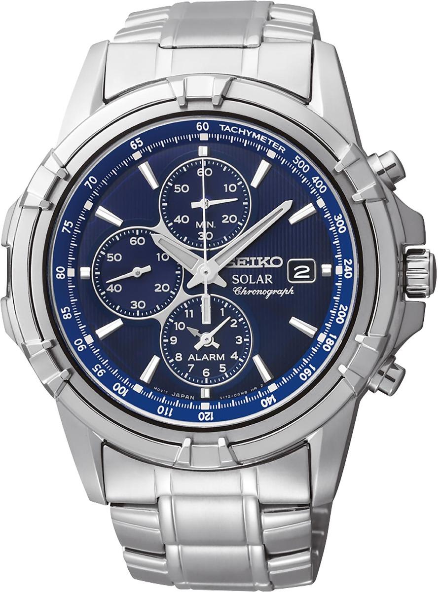66dab1bd993 relógio seiko solar chronograph azul ssc141. Carregando zoom.