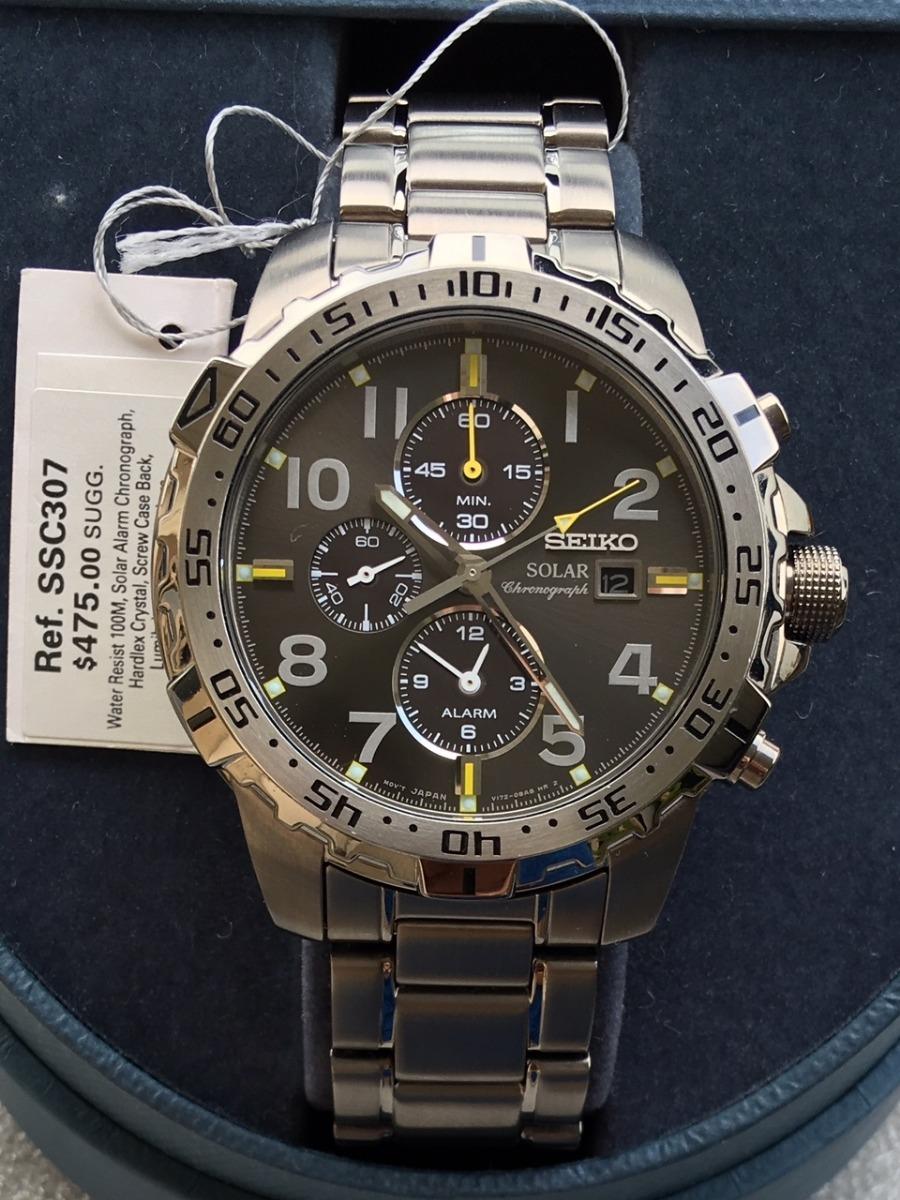 1d0757883e0 Relógio Seiko Solar Tech Alarme Crono Ssc307 Dual Time - R  1.760
