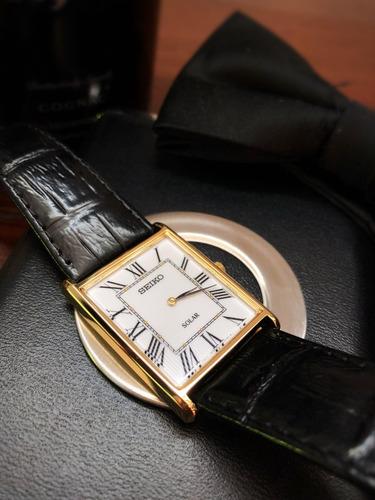 fbf43680904 Relógio Seiko Solar White Dial De Couro Preto-sup880 - R  950