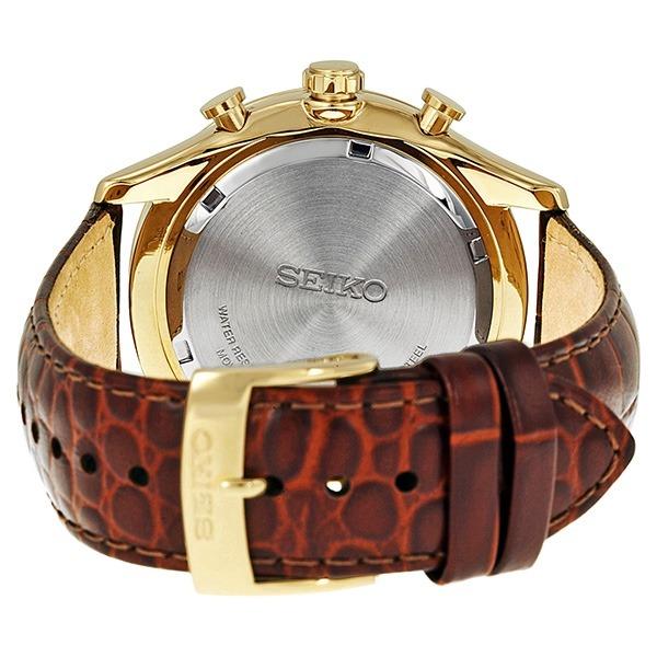 Relógio Seiko Spc088p1 Masculino Cronografo Couro Dourado - R  1.967 ... e6c7c703f0