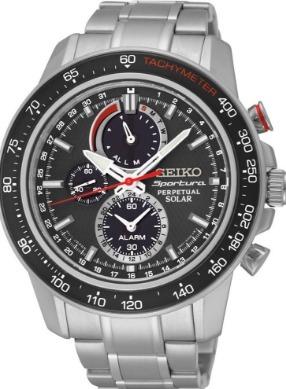 d8fb0e863e2 Relógio Seiko Sportura Perpectual Preto aço Solar Alarme - R  2.499 ...