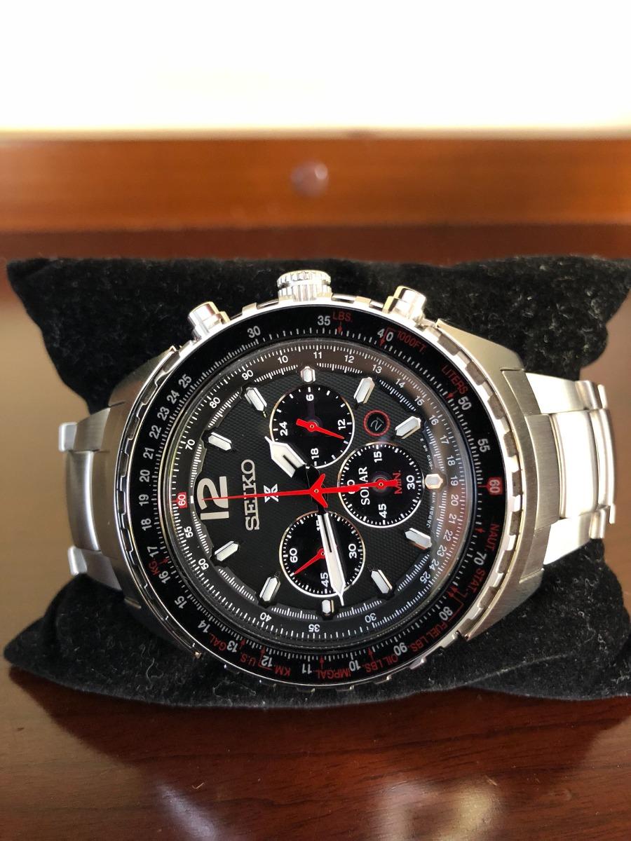 31a60794527 Relógio Seiko Ssc261p1 Prospex Aviator Japan Solar - R  2.300