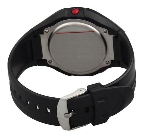 relógio sensor medidor caloria frequência cardíaca-vermelho