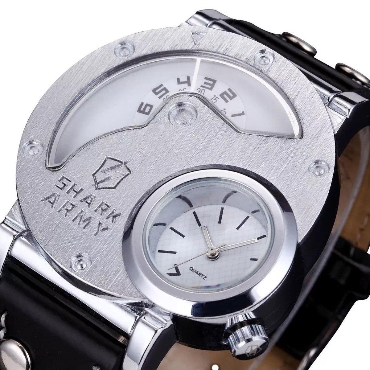 85ccfcd81b1 relógio shark army original - saw054 aço inoxidável preto. Carregando zoom.