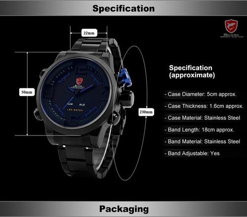 relógio shark masculino militar sh103 sh105 sh106