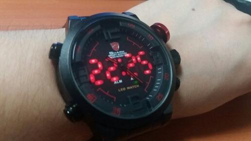 relógio shark original militar + frete grátis + promoção.