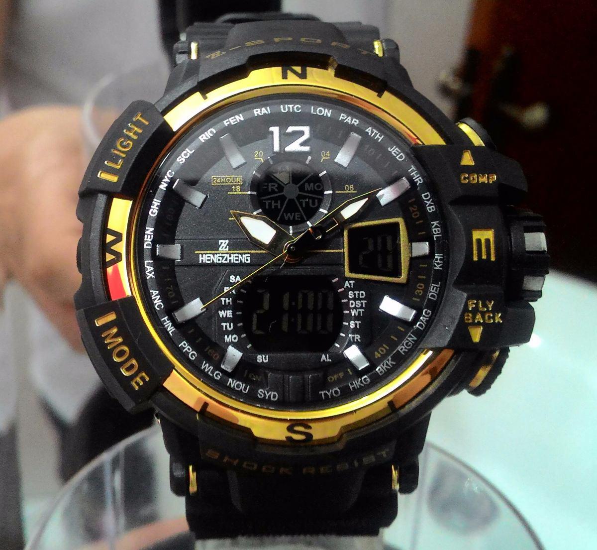 89526f009ef relógio shock masculino pulso digital analogico z sport 490. Carregando  zoom.