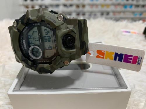 relogio shock skmei 1197 camuflagem tatico militar