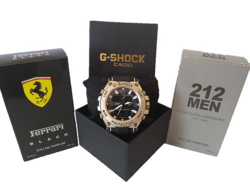 relógio shok e 2 perfumes exclusivos à pronta entrega