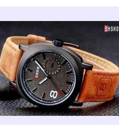 relógio shshd sports unisex  pulseira de couro