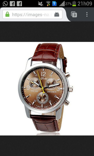relógio shshd únissex (puceira de couro)