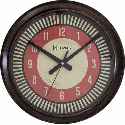 relógio silencioso parede ouro velho 40cm retrô herweg 6688s