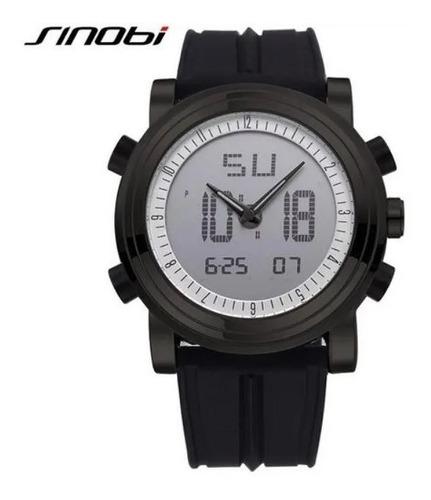 relógio sinobi 9368 sport digital led  caixa original preto