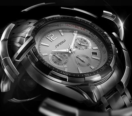 7b2222df5c2 Relógio Sinobi Marca De Luxo S Choque Relógios Homem De Aço - R  169 ...
