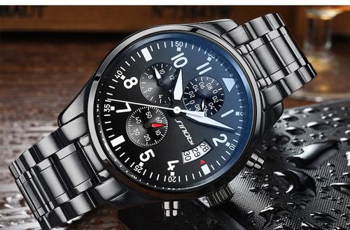 relógio sinobi snb119639g masculino sport cronógrafo belo