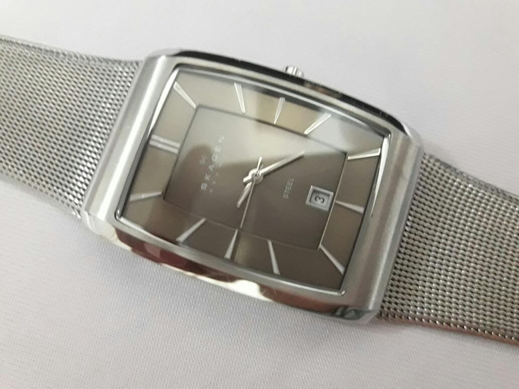 4ebb75b5ed330 relógio skagen denmark 690lssm caixa e pulseira em aço. Carregando zoom.