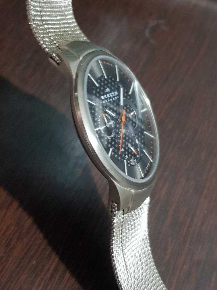 a9daebaa2ba relógio skagen denmark men s watch 809xlttm titanium. Carregando zoom.