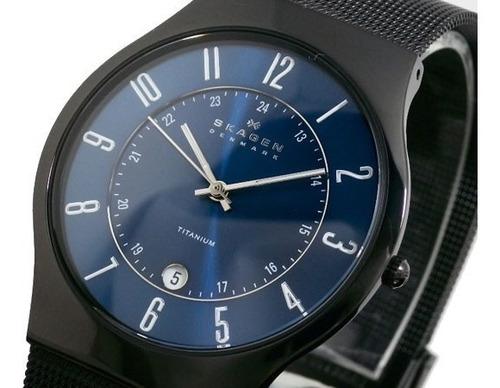 relógio skagen grenen titanium t233xltmn