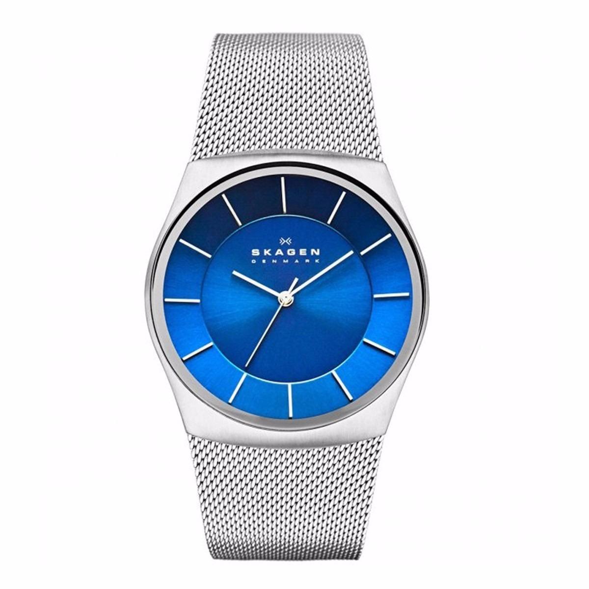 2e7cd6b134c7c relógio skagen havene denmark blue dial skw6068. Carregando zoom.
