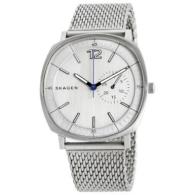 62783227a12ca Relógio Skagen Rungsted Heavy Gauge Steel Mesh Watch Skw6255 ...