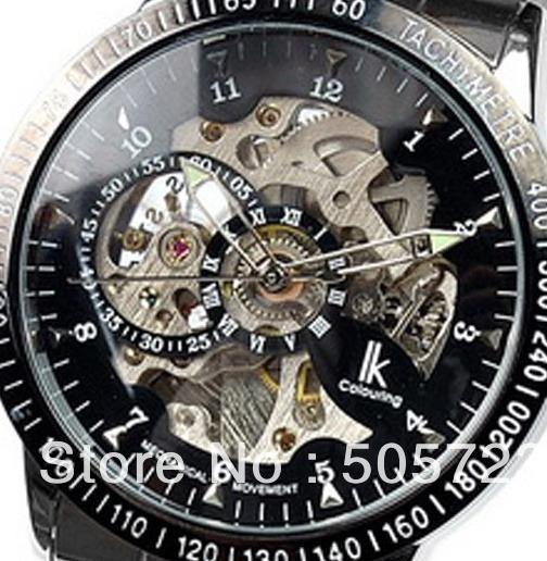 b522902bf5b Relógio Skeleton Automático Mecânico Ik Colouring Dourado - R  159 ...