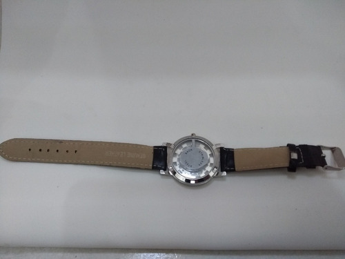 relógio skeleton unisexx pulseira de couro barato