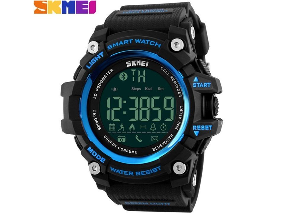 8ee5e8518a1 Relogio Skimei 1227 Azul Bluetooth Inteligente Smartwatch - R  79