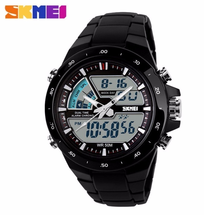 66c1248f030 Relógio Skmei 1016 Analógico Digital Á Prova D água - R  99