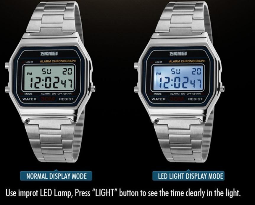 79ebf7354dc relógio skmei 1123 led digital esportivo masculino prata. Carregando zoom.