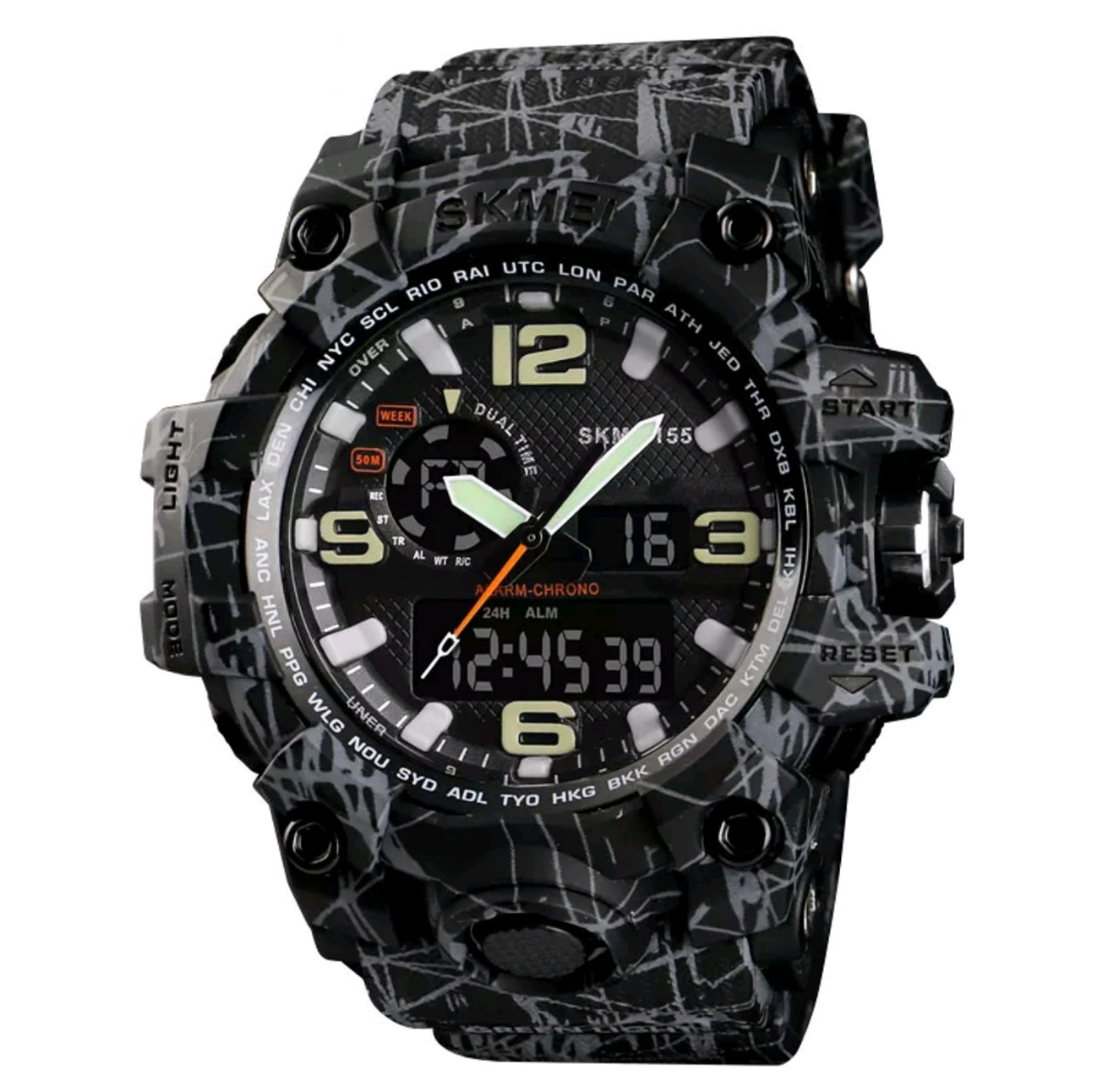 8d15c520833 Relógio Skmei 1155 Esportivo Estilo G-shock 5atm Novas Cores - R  78 ...