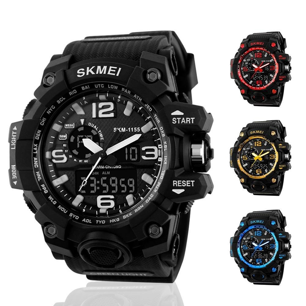 44350722412 Relógio Skmei 1155 Esportivo Prova D  Água Preço Promocional - R  109