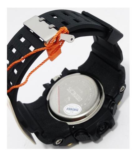 relógio skmei 1155b resistente a água 50m dourado original