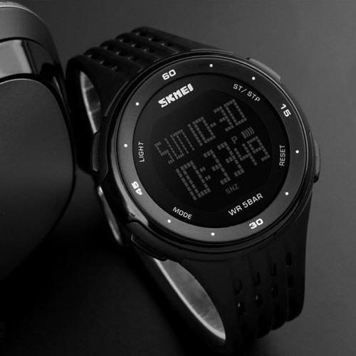 relógio skmei 1219 led digital super promoção + brinde