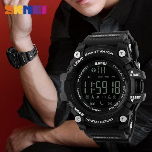 905395e3068 Relogio Skmei 1227 Smartwatch Km Calorias Bluetooth + Brinde - R ...