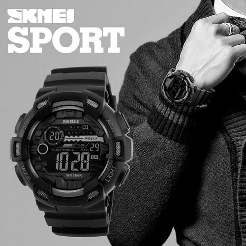 ec323374d88 Relogio Skmei 1243 Digital Esporte Prova D agua + Brinde - R  49