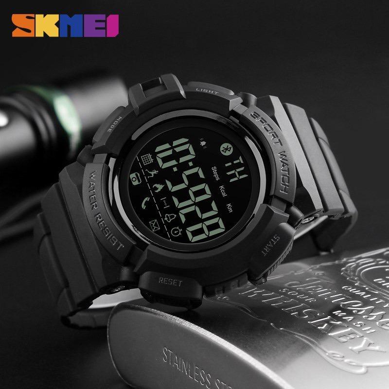 ed1cdaa6b3b Relogio Skmei 1245 Digital Esportivo Inteligente Bluetooth - R  120 ...
