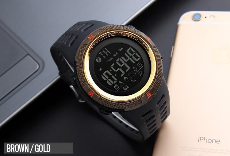 bf5de125234 Relogio Skmei 1250 Digital Esportivo Inteligente Bluetooth - R  115 ...