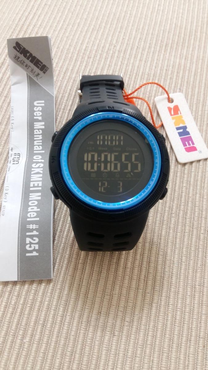 80c9c93f546 relógio skmei 1251 led digital esportivo a prova d´água azul. Carregando  zoom.